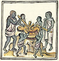 Pic 2: Human sacrifice, New Fire Ceremony, Florentine Codex