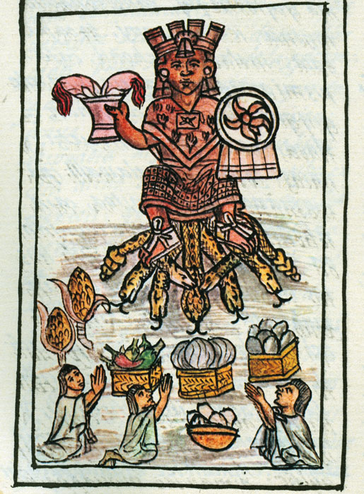 Maize worship from the Florentine Codex