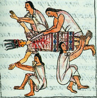 Pic 9: Female sacrifice victim in honour of the maize goddess, Florentine Codex Book 2
