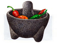 Pic 5: A rock-solid molcajete!