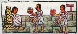 Pic 7: Banquet time, Florentine Codex Book IX