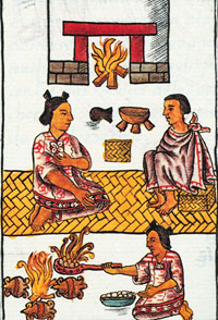 Pic 8: The New Fire Ceremony celebrated in a household, Florentine Codex Book VII