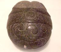 Imágen 3: Piedra verde 'Corazón de Copil', Museo Nacional de Antropología, México