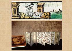 Imágen 6: Leyendo los códices (arriba: Códice Florentino Libro 10