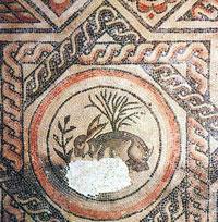 Mosaico de Liebre Romana, Museo Corinium, Cirencester
