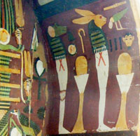 Hare-headed manifestation of Egyptian sun god - interior of the coffin of Bakenmut, divine father of Amum, c. 950 BCE, British Museum