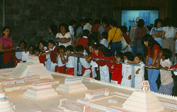School children study a model of Tenochtitlan, National Museum of Anthropology, Mexico City