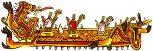 Pic 1: Corn - 'backbone' of the Mexican diet... (adapted from the Codex Borgia, plate 27)