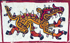 Pic 2: The figure of Cipactli, Codex Borgia, plate 21