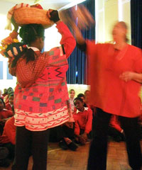 Learning by doing: Graciela introduces this year's Year 5 group at Beulah Junior to every-day life under the Aztecs...