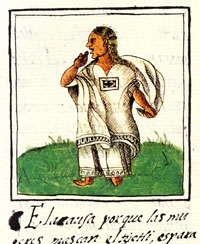 Pic 5: 'The chicle chewer', Florentine Codex, Book X