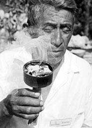 Pic 18: Shaman burning incense © Copyright Macduff Everton