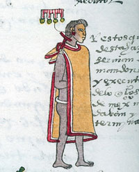 Aztec officer in the Codex Mendoza sporting 'medals'