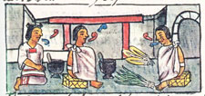 'Listening to the admonition of elders', Florentine Codex Book 9