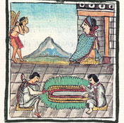 The specialised art of feather device making, Florentine Codex Book 9