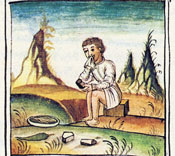 Cleaning teeth, Florentine Codex Book 10