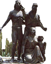 'Founding of Tenochtitlan' statue, Zócalo, Mexico City (detail)