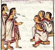 Festival of One-Flower: invitation to ritual dance, Florentine Codex Book 4
