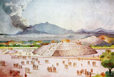 Pic 5: Reconstruction by Ignacio Marquina of the ancient site of Cuicuilco