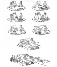 Pic 7: How the main structures evolved at the Maya city of Uaxactan