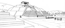 Pic 8: Illustration showing the design form of the Pyramid of the Moon, Teotihuacan