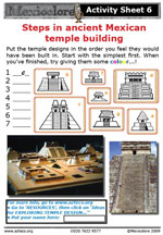 Our 2009 activity sheet on temple building
