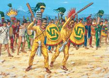Pic 4: Aztec battleline - illustration by Adam Hook