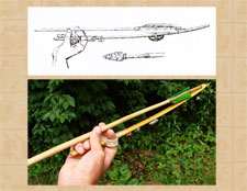 Pic 9: 'Basketmaker' (type used by the Aztecs) style atlatl in use