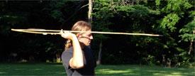 Pic 12: An expert atlatl handler at work