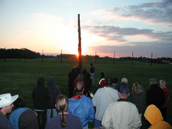Pic 10: Attending the autumn (fall) equinox at Cahokia