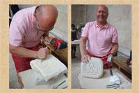 Proud student Martin Kramer with his 'Maya cross'