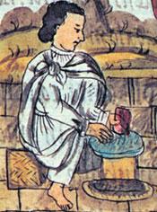 Aztec stonecutter, Florentine Codex Book X