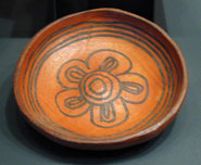 Simple abstract motif from a Culhuacan potter - representing the early phase in Aztec ceramics