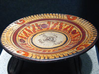 Heavily ornamented borders on Chalco pottery