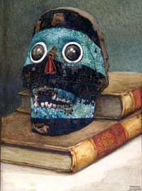 Pic 9: Drawing by Norman Hardy in 1912 of the British Museum turquoise skull mask