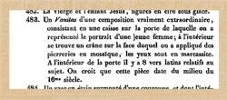Pic 14: Entry No. 483 in van Heurne's 1844 sale catalogue listing a 'Vanitas' of unknown origin.