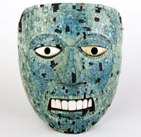 Pic 18: The 'spotty' mask, third of the Henry Christy turquoise bequests to the British Museum, Am St.400