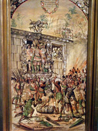 Pic 10: Moctezuma has to face his hostile people, shortly before his death