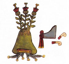 Pic 14: Place glyph for Tlacopan (part of the Aztec 'Triple Alliance'), Codex Osuna
