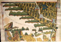 Pic 15: Disputed lands under the Spanish 'encomienda' system, Codex Tepetlaoztoc