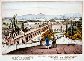 Pic 16: View of colonial Mexico City, from San Cosme to Tacuba (Tlacopan)