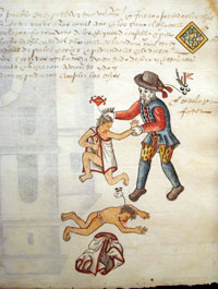 Pic 17: Discrimination against the local Indian population by the Spanish was enshrined in law. Codex Tepetlaoztoc.