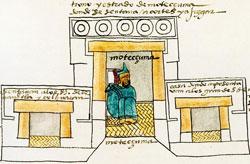 Pic 2: Moctezuma in his palace, Codex Mendoza