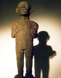 Fig 1: Mexica commoner wearing a simple loincloth, National Museum of Anthropology, Mexico City