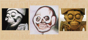 Pic 5: Images of Mictlancíhuatl surround Frida's Skeleton figure