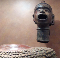 Pic 8: Xipe Totec figure, National Museum of Anthropology, Mexico City