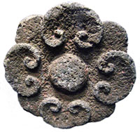 Pic 1: Ancient stone flowers may well have ornamented temples or the homes of nobles