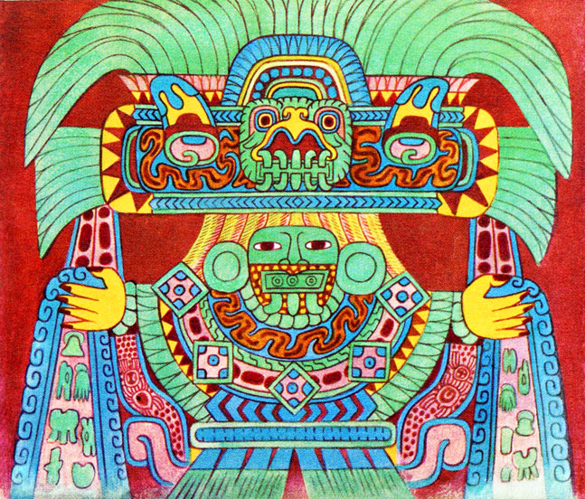 Mexicolore for Aztec mural painting