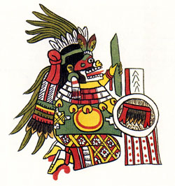 Pic 12: The old, skull-faced earth goddess Cihuacoatl. Codex Magliabechiano f.45r.