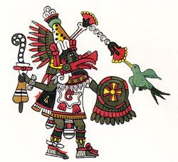 Pic 17: Quetzalcoatl-Ehecatl, god of the Wind. Codex Magliabechiano f.78r.